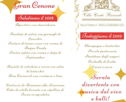 Cenone Capodanno 2019 Asti Piemonte - Villa Conte Riccardi